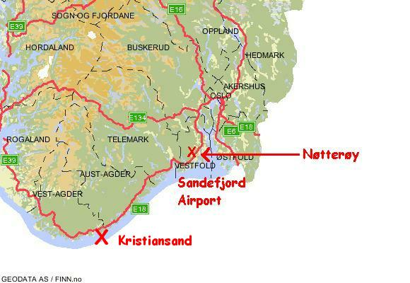 Jan Back Home In Norway - Norway map sandefjord