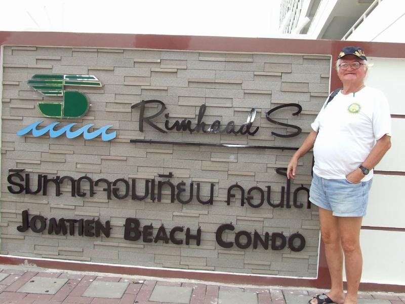 Martin Outside The New Wall For Jomtien Beach Iniums